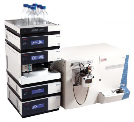 LTQ XL ion trap mass spectrometer with UltiMate 3000 RSLC