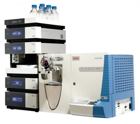 Velos Pro ion trap mass spectrometer with UltiMate RSLC